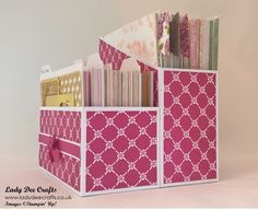 Craftroom Organisation – DSP and Memories + More Cards Holder – Lady De. - Craftroom Organisation – DSP and Memories + More Cards Holder – Lady Dee Crafts - Scrapbook Paper Organization, Craft Organisation, Craft Paper Storage, Stationary Organization, Card Storage, Room Organization, Storage Boxes, Organizing Crafts, Diy Paper