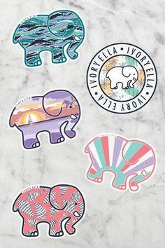 Ivory Ella - Good Clothes for a Good Cause. Ivory Ella Stickers, Love Stickers, Printable Stickers, Victoria Secret Body Spray, Cute Popsockets, Ivory Trade, Save The Elephants, Elephant Pattern, New Sticker