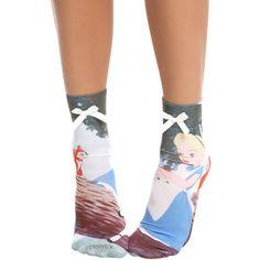 Disney Alice In Wonderland Anklet Sock   Hot Topic