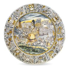 A Castelli maiolica charger, late 17th century | lot | Sotheby's