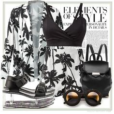 Matchy palm prints. | Women's Outfit | ASOS Fashion Finder