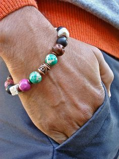 Men's Spiritual Fortune Courage Protection Bracelet by tocijewelry