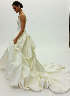 A side view of a ball gown from @Zac Posen's Fall 2015 #weddingdress collection | Brides.com