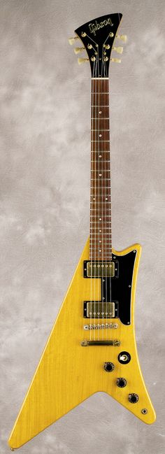 Gibson Heritage Series Moderne Korina 1982 Natural. The original was patented on January 7, 1958!