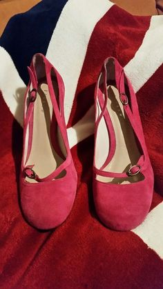9748d5481130 JIGSAW COURT SHOE LULU PINK SIZE UK 7 EURO 40 SUEDE LEATHER RRP £139 Court