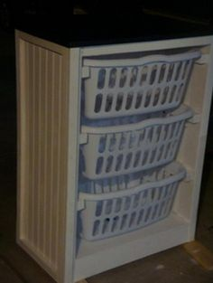 Easy basket dresser- take drawers out of dresser replace w baskets. Use it to sort laundry