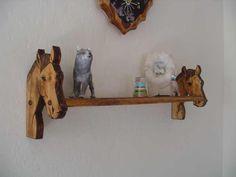 Arizona Custom Wood Designs - Horse Lovers Wall Shelf