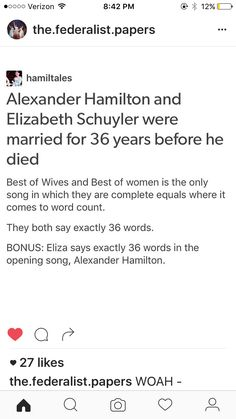 Fact Checked: The Hamilton's were married Dec 14, 1780 and Alexander died July 12, 1804. That's only 24 years.