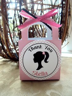 Silhouette Party Favor Barbie party favor by TooCuteInvites, $20.00