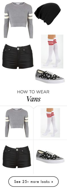 """join my group called my babes"" by slayyeettia on Polyvore featuring Topshop, Vans and Ryder"