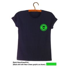 Alien T Shirt Printed Tee Casual Fashion Funny UFO Planet Tumblr Hipster Outfits for Teens Womensens Unisex Casual Patch Top Pocket TShirt Cool Cute Humor School Party Gifts Birthday Christmas New Year Instagram Twitter by FrogTee #Polyvore #Forever 21 #Alien #Neon Green #Logo #Slogan #Casual #Fashion #Closet