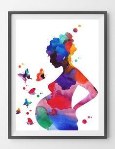 Pregnancy Art Print Woman With Child Watercolor Pregnant Woman Medical Art Poster Gynecology Midwifery print Obstetrics OBGYN Wall Art - Anatomy Watercolor Art by MimiPrints - Schwanger Mother Daughter Art, Mother Art, Pregnancy Art, Pregnancy Pillow, Early Pregnancy, Pregnancy Outfits, Pregnancy Workout, Pregnancy Photos, Mothers Day Drawings