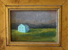 """Cyan"", Linsey Sappington,Oil on Wood Panel, The Farmhouse Porch Blog"