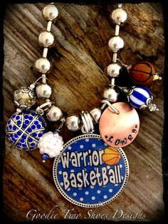 Basketball Mom Necklace Basketball Jewelry by mygoodie2shoes, $54.00