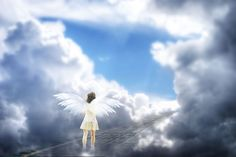 Free illustration: Angel, Light, Shadow, Clouds, Blue - Free Image ...