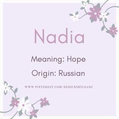Nadia - Nadia - Beyond Binary Baby Girl Names List, List Of Girls Names, Cute Girl Names, Cool Baby Names, Unique Baby Names, Awesome Names, Boys Names Rare, Rare Baby Names, Baby Names And Meanings