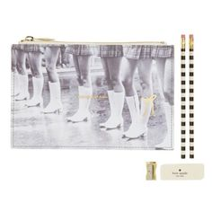 Kate Spade New York Kick Up Your Heels Pencil Pouch (110 ILS) ❤ liked on Polyvore featuring home, home decor, office accessories, kick up your heels, kate spade pen case, slim pencil case, kate spade pencil pouch, kate spade pencil case and kate spade office accessories