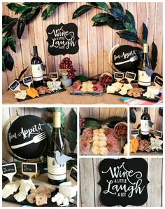 Two Bite Crostini Party Ideas w/ Recipes, Food And Drinks, Wine & Cheese Tasting. Wine Cheese Pairing, Wine And Cheese Party, Wine Tasting Party, Wine Pairings, Food Pairing, Tasting Table, Wein Parties, Bridal Shower Wine, Wine Theme Shower