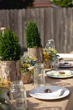 Rustic party idea baby or bridal shower
