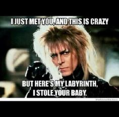 Jareth from Labyrinth + Carly Rae Jepsen = Awesome   @Leigh Hiros