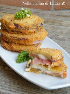 Medaglioni fritti di melanzane tonde ripiene - SECONDO ALTERNATIVO
