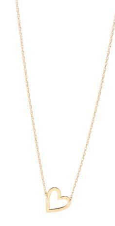 Jennifer Zeuner Jewelry Open Heart Necklace. Want!!