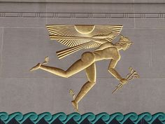 Art Deco relief of Mercury by Monceau, via Flickr