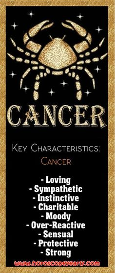 Cancer Horoscope Knowing Cancer Horoscope Compatibility Helps You In Dating-You have been busily dealing with the particular practical/physical demands of everyday living, your devil inside aspect aiming to be ideal, and so you will find probably be some contracts utilizing individuals assisting you available or delivering an email finder service to you personally, and also yourself working for, as well as supplying easily... Read More: http://www.horoscopeyearly.com/the-cancer-horoscope/