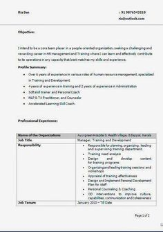Best Resume Format To Use Free Download Sample Template Excellent