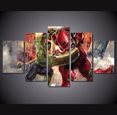 Own this amazing Hulkbuster vs Hulk wall canvas today we will ship the canvas for free. This is the perfect centerpiece for your home. It is easy to assemble and hang the panels together which makes this a great gift for your loved ones. This painting is printed not handpainted and is ready to hang! We have 1 options for this canvas -- Size 1: (20x35cmx2pcs, 20x45cmx2pcs, 20x55cmx1pc) Limited quantities left. www.octotreasures.com