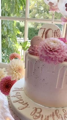 Elegant Birthday Cakes, Birthday Cake For Women Elegant, 14th Birthday Cakes, Cake Table Birthday, Birthday Cake With Flowers, Birthday Cakes For Teens, Beautiful Birthday Cakes, Birthday Cake Decorating, Beautiful Cakes