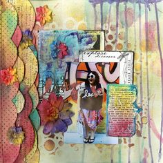 Living From The Heart - paper ruffles with tattered angels paints
