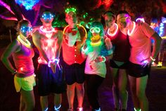 We need ideas for our Moonlight Run, check them out - and help us out: glow run | You run through areas like this!