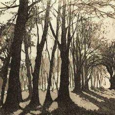 Chrissy Norman - Artist & Printmaker - Etchings of Suffolk - Etching Shop Landscape Art, Landscape Paintings, Sea Paintings, Etching Prints, Wood Engraving, Beach Scenes, Linocut Prints, Tree Art, Art Techniques