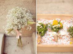 Mariages Rétro: Les bouquets de gypsophiles