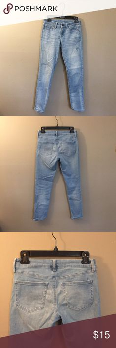 """[uniqlo] stretchy denim uniqlo light denim pants (not jcrew) 
