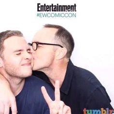 Why does Clark Gregg like kissing Iain de Caestecker so much?