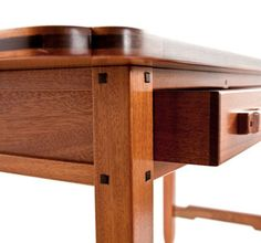 Greene and Greene Desk, the ebony plugs are difficult but really nice to inlay.