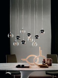 Steel pendant lamp ECLIPSE by Cattelan Italia design Philip Jackson