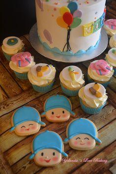 Tarta , Cupcakes y Galletas de Pocoyo