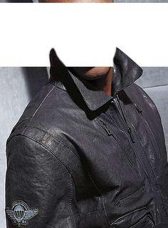 Značková pánská kožená bunda