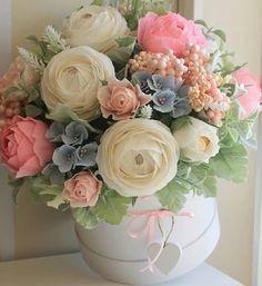 # flowers # flowers from paper – Flowers Handmade Flowers, Diy Flowers, Pretty Flowers, Wedding Flowers, Bouquet Flowers, Crepe Paper Flowers, Fabric Flowers, Beautiful Flower Arrangements, Floral Arrangements