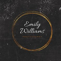 Premade Logo Design Wreath Logo Photography by IlluzstratedUK