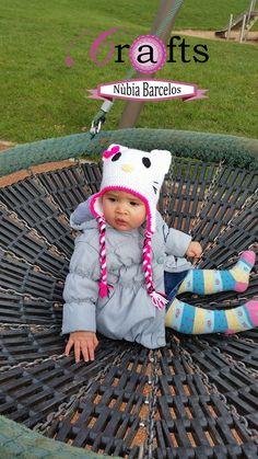 hat crochet hello kity