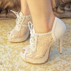white lace shoes