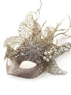 Colorful Venetian Masquerade Mask for Men Short Nose Swan Glitter Face Mask
