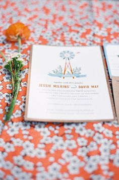 rustic tangering stationery