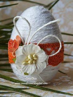 Zdjęcie Egg Crafts, Yarn Crafts, Easter Crafts, Diy And Crafts, Happy Easter, Easter Bunny, Easter Eggs, Spring Crafts, Holiday Crafts