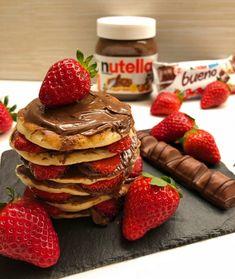 Nutella, Diy Food, Food To Make, Waffles, Brunch, Sweets, Breakfast Healthy, Dinner, Foods