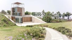 Four single-family houses with the front opened to the view and breeze on the Coast of Aamchit Lebanon - CAANdesign